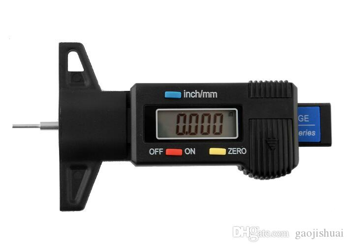 Car Tire Tester Brake Shoe Pad Wear Digital Tyre Depth Gauge Tread Monitor Auto Tires Pressure Measurement