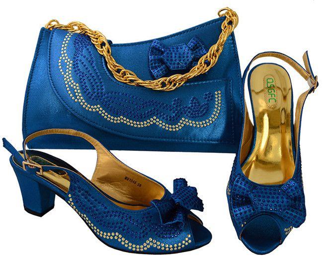 2017 Yeni moda İtalyan ayakkabı ve çanta çanta, toptan ayakkabı ve çanta seti yüksek topuk pompaları ayakkabı eşleşen çanta set ile yüksek kalite