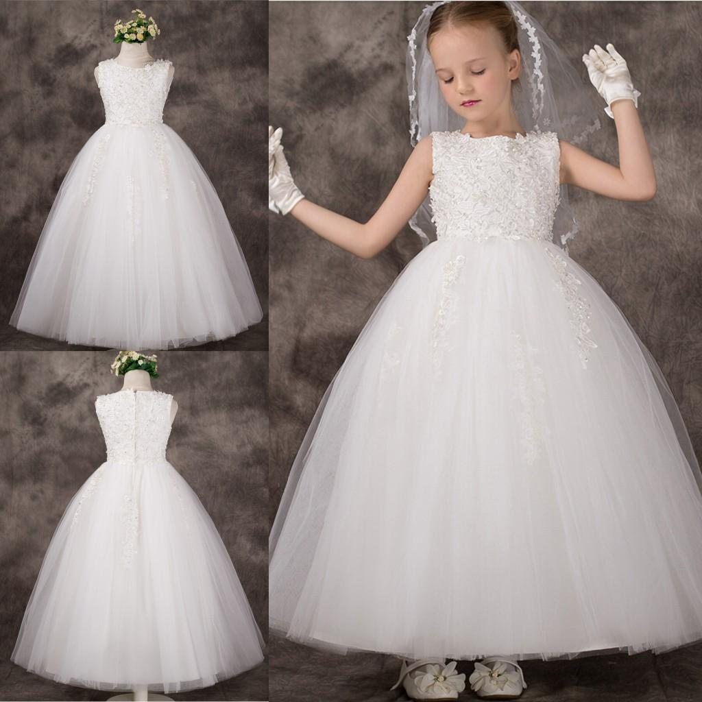 2015 flower girl dress new arrival fashionable flower girl dresses 2015 flower girl dress new arrival fashionable flower girl dresses ball gown o neck apliques pearls long girl dress for wedding big girls dresses cheap ombrellifo Gallery