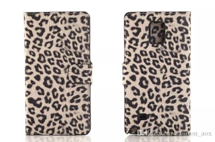 Dla Samsung Galaxy S6 G9200 Edge Note4 S5 N9100 Leopard Grain PU Skórzane Portfel Wouch Case Credit Card Stand Holster Luksusowa pokrywa mody