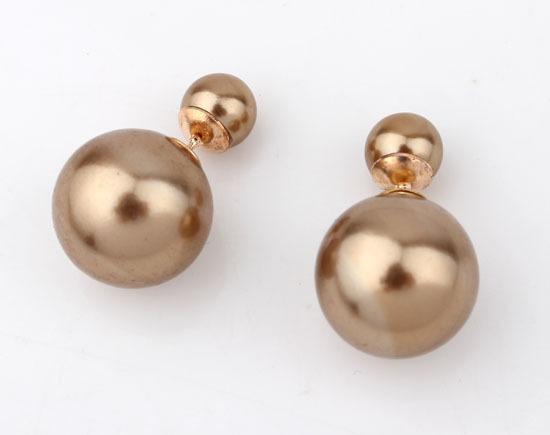 boucles d'oreille grosse perle