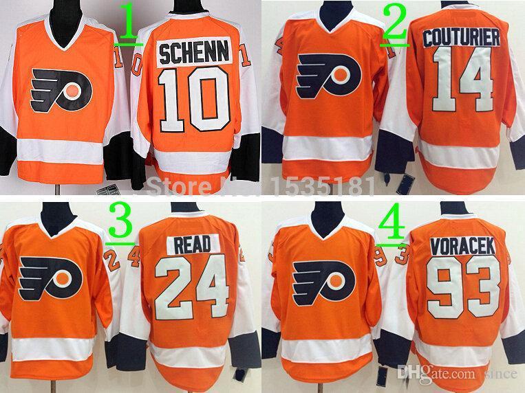 ... get 2018 2016 new 40 sean couturier philadelphia flyers jerseys orange  10 brayden schenn jersey stitched 4ab487e4d