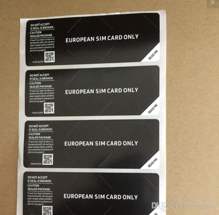 / nur SIM Karte Dichtung Aufkleber für SAMSUNG Galaxy Phone Paket Box Dichtungsstreifen