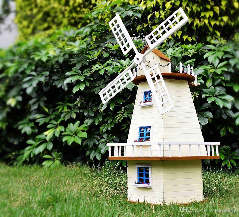 Free Shipping Diy Doll House Waiting For Manual Assembly Rotating Windmill Villa Wooden Model Building Monsoon Creative Gift