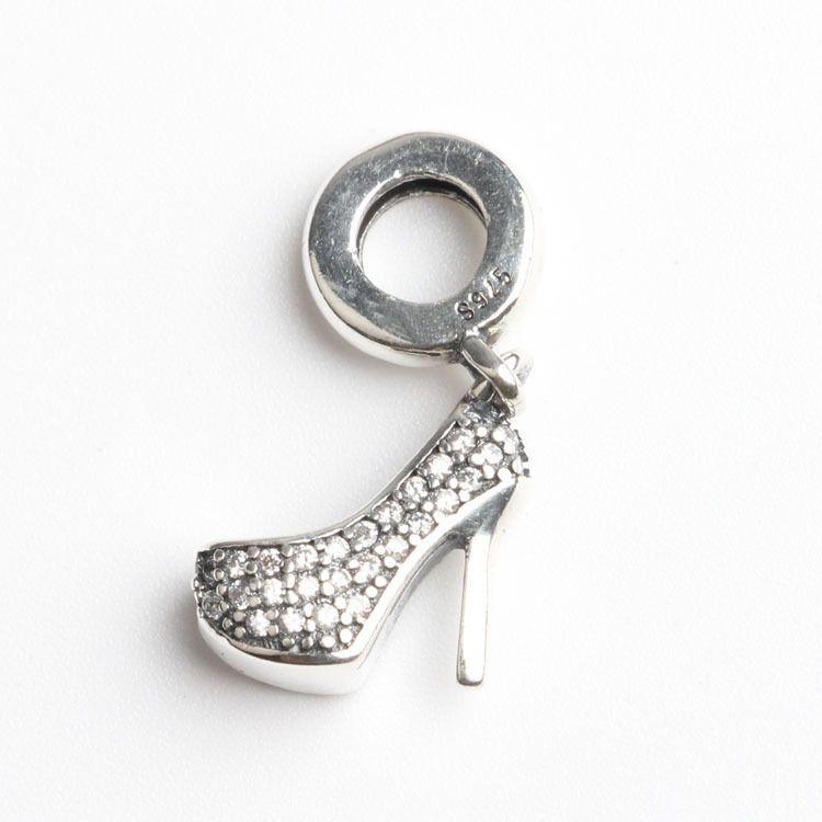 Echt 100% 925 Sterling Silber Bead High Heel Fit Pandora Original Armband Charme Klar CZ Kostenloser Versand DIY Schmuck Frauen Geschenk
