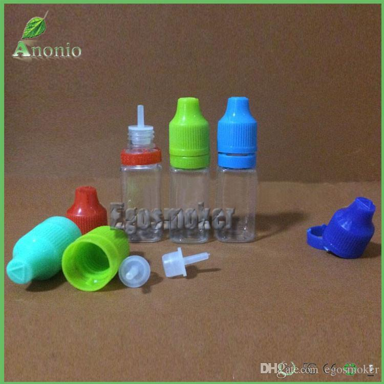 5ml 10ml 15ml 20ml 30ml 50ml 자식 증거 플라스틱 dropper 병, 탬퍼 emper 뚜껑 병 맑은 전자 담배에 대 한 액체 병 빈 병
