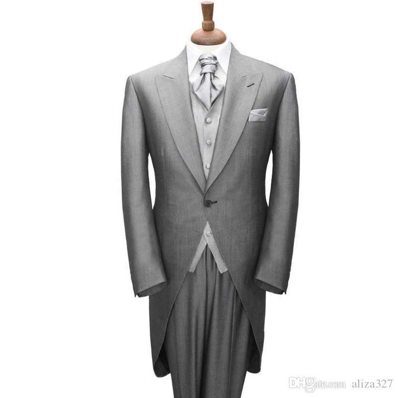Men's Tuxedos for men Wedding Suits Groom Tailcoat Custom Made Bridal Dress Suits coat + trousers made to order