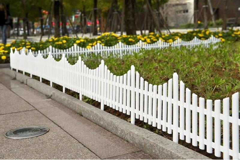 61 * 33 cm Clôture De Noël Plug En Plastique Insert Clôture Blanc Terrain Clôture Cour Jardin Décoration Fournitures Livraison Gratuite ZA5398