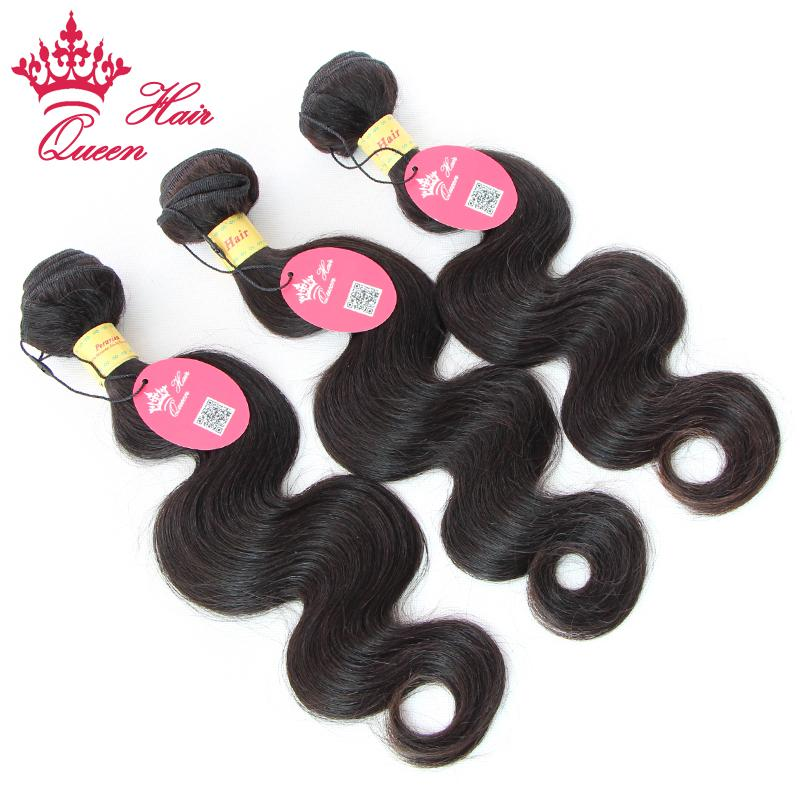 Koningin Haarproducten Peruaanse Maagd Menselijk Haar Weave Golvend Best verkopende natuurlijke kleur Body Wave Hair Extensions Gemengde lengtes 12 - 28