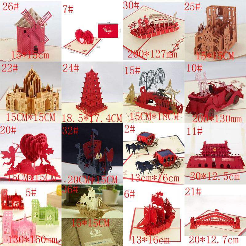 westminster cathedral handmade creative kirigami origami 3d valentines day birthday wedding invitations gift greeting cards birthday cards online birthday