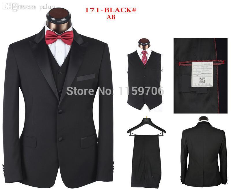 2018 Wholesale 2015 New Fashion Black Men Suits Business Suits
