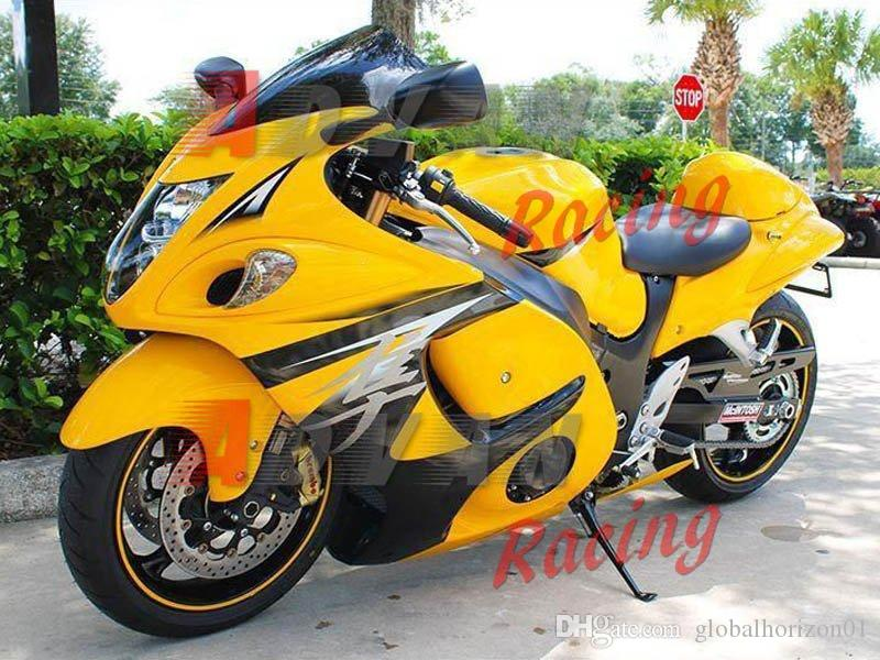 Yellow Injection molding custom painted fairing Hayabusa GSX1300R 08-14 81