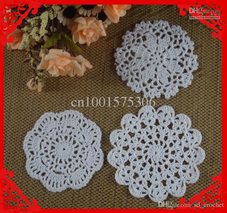 Wholesale Crochet Pattern Doily Hand Made Crochet Cup Mat Black ...