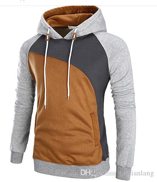a4f41ca6b4140 2019 Winter Plus Size Hooded Men Hip Hop Hoodies Famous Sportswear Color  Stitching Sweatshirts Men S Slim Men S Hoodies Sweatshirts M 3 From  Taotianlang