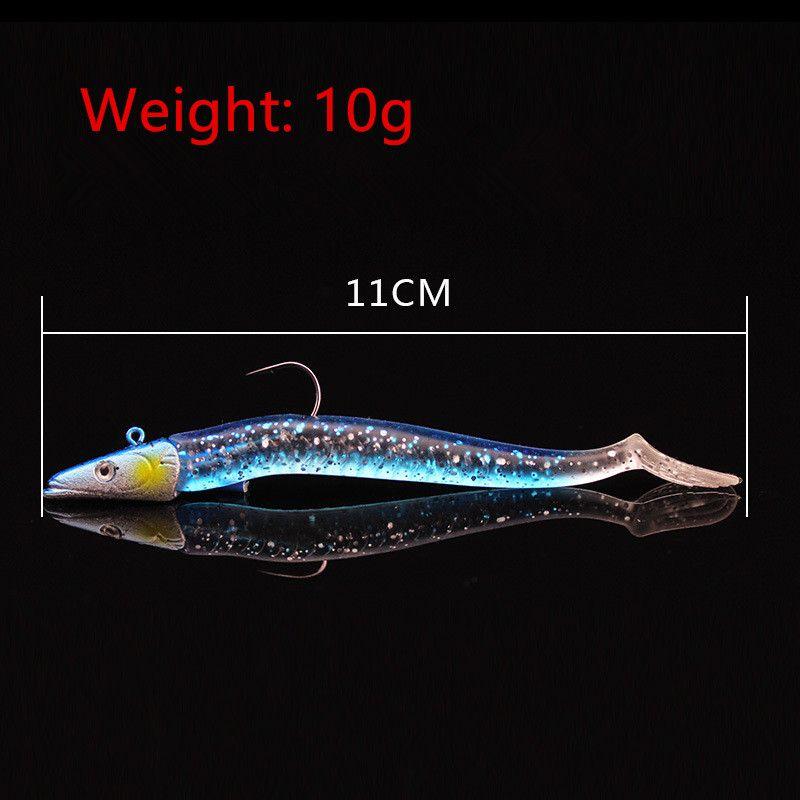 / maschere di Hook morbido esche Esche i 11 centimetri misto 10g Piombo Head Fishing Ganci Pesca Attrezzatura di pesca SF_37