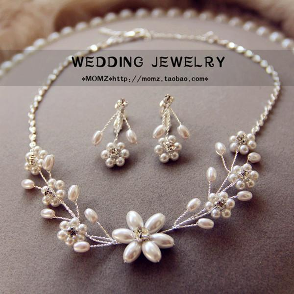 Wholesale Korean Simple Pearl Necklace Bride Wedding Wedding