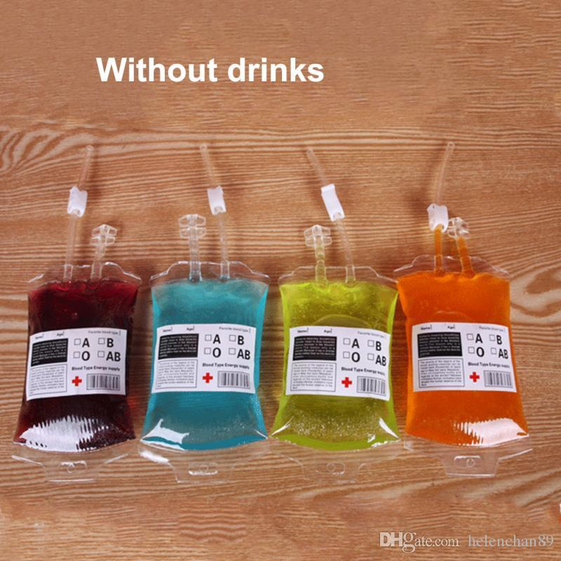Clear Halloween Food Grade PVC Drink Bag The Vampire Diaries Cosplay Blood Bag Props Halloween Decoration Supplies