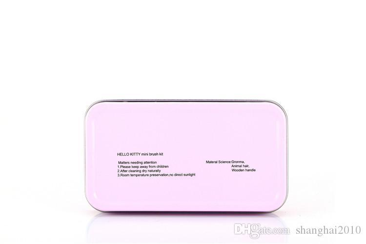 Привет Китти макияж косметические кисти комплект макияж кисти розовый железный корпус/туалетных красоты техника /набор на 10 комплектов