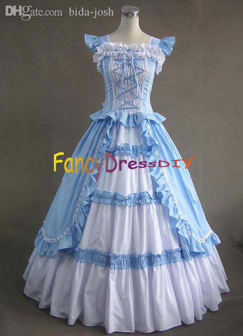 Wholesale-2015 Victorian Dress Southern Belle Costume Women Adult Halloween  Costumes For Women Princess Ball Gown Gothic Lolita Dress V057 Costume  T-shirts ... 22d66334bf28