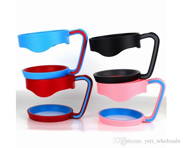 عيد الميلاد الجديد المحمولة كأس drinkware مقبض ل 30 أوقية كأس السفر في الهواء الطلق البلاستيك الأسود حامل اليد