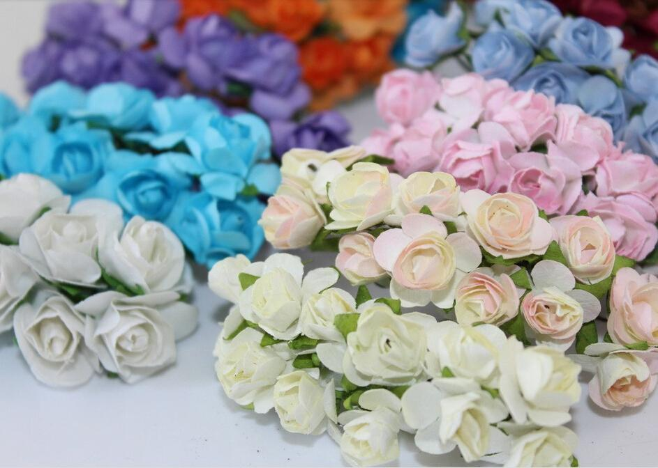 Best sale 1 15cm head multicolor mulberry paper flower bouquet 1 15cm head multicolor mulberry paper flower bouquetwire stem scrapbooking artificial rose flowers under 4322 dhgate mightylinksfo