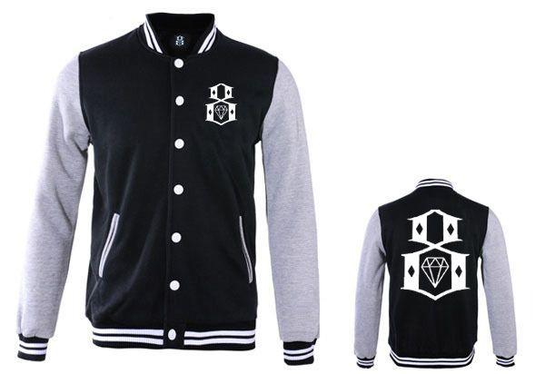 New high quality mens Winter Baseball leather Jackets men's hip hop autumn winter high fashion brand Rebel8 rock jackets
