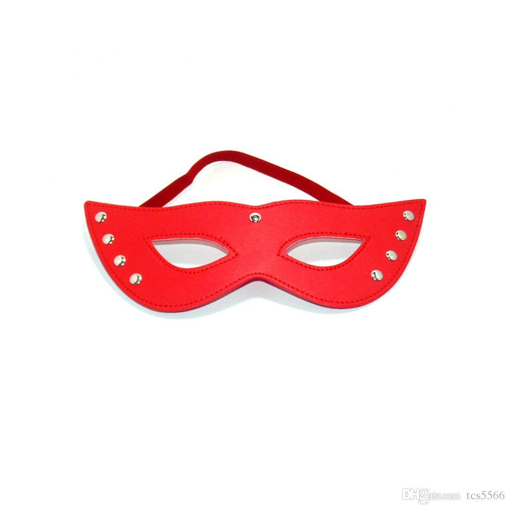 Sex Jogo bico do peito PU mama máscara de couro Grampos Com 6 Sinos BDSM Fetish Bondage Limitações brinquedos eróticos para Casais