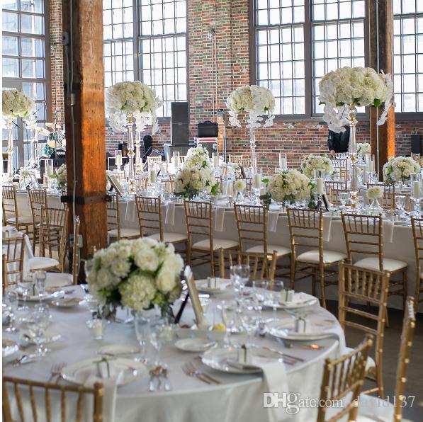 Dekoratif yapay çiçek centerpiece düğün çiçek standı centerpieces
