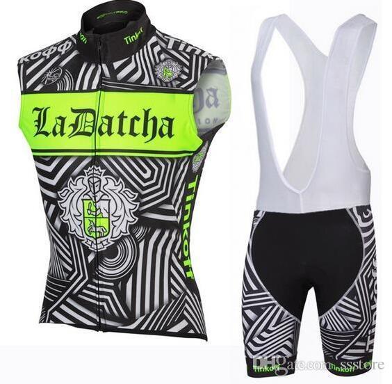 Tinkoff Saxo Sleeveless Cycling Jerseys Set Short With Padded Bib ... 1ba53e297