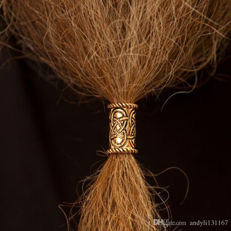 200 adet / grup vintage bronz renk Norse Viking Runes Sakal veya Saç Vikings için Charms Boncuk Rune Kitleri bilezik kolye diy Z0006