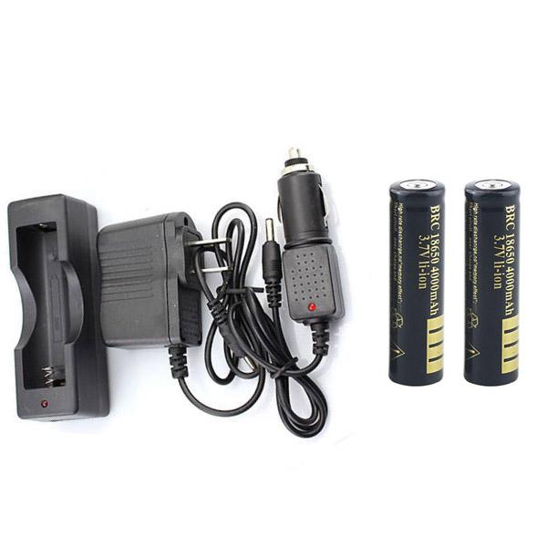 2 х 18650 4000 мАч литий-ионная аккумуляторная батарея Портативное зарядное устройство 18650 + автомобильное зарядное устройство + адаптер переменного тока для одиночной батареи 18650