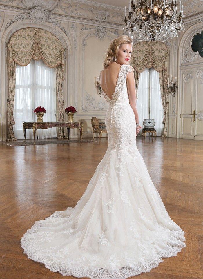 vestidos de novia sin espalda corte sirena