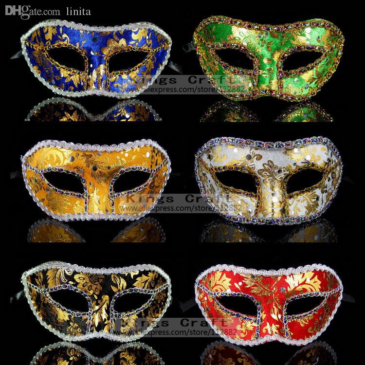 Decorative Masquerade Masks Wholesale Masquerade Masks Sequin Decoration Mask Christmas 14