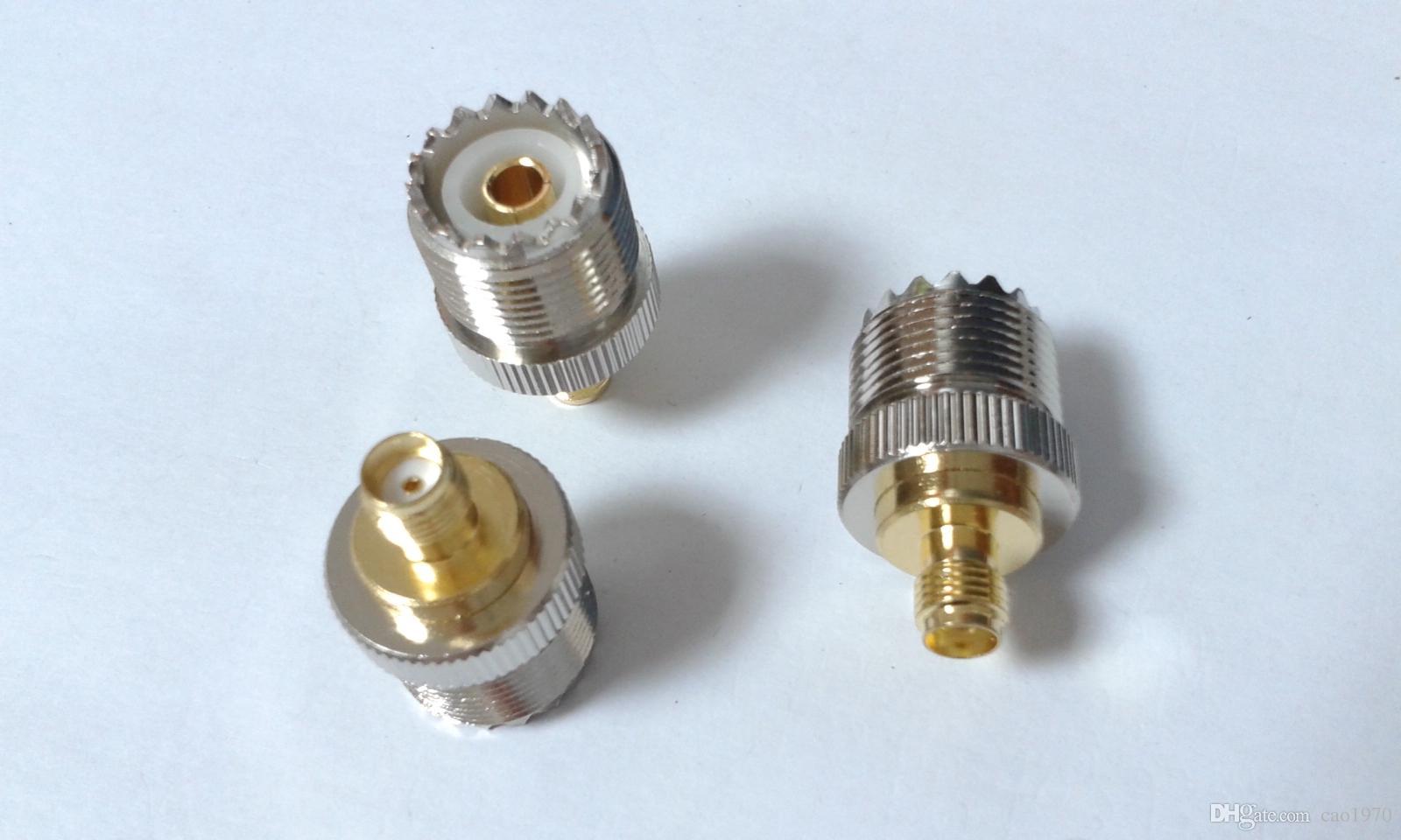 100шт UHF женский SO-239 разъем для SMA женский разъем RF прямой адаптер разъем