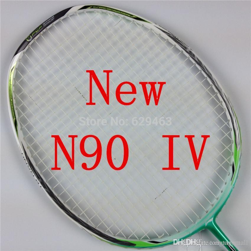 lining badminton racket n90iii n90iv with string overgrip uk pounds