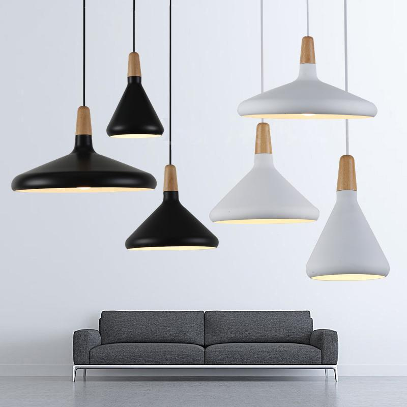 2018 nordic simple pendant lights solid wood aluminum lampshade 2018 nordic simple pendant lights solid wood aluminum lampshade creative coffee shop bar e27 hanging lamps decor luminaire from johnnda 33769 dhgate mozeypictures Images