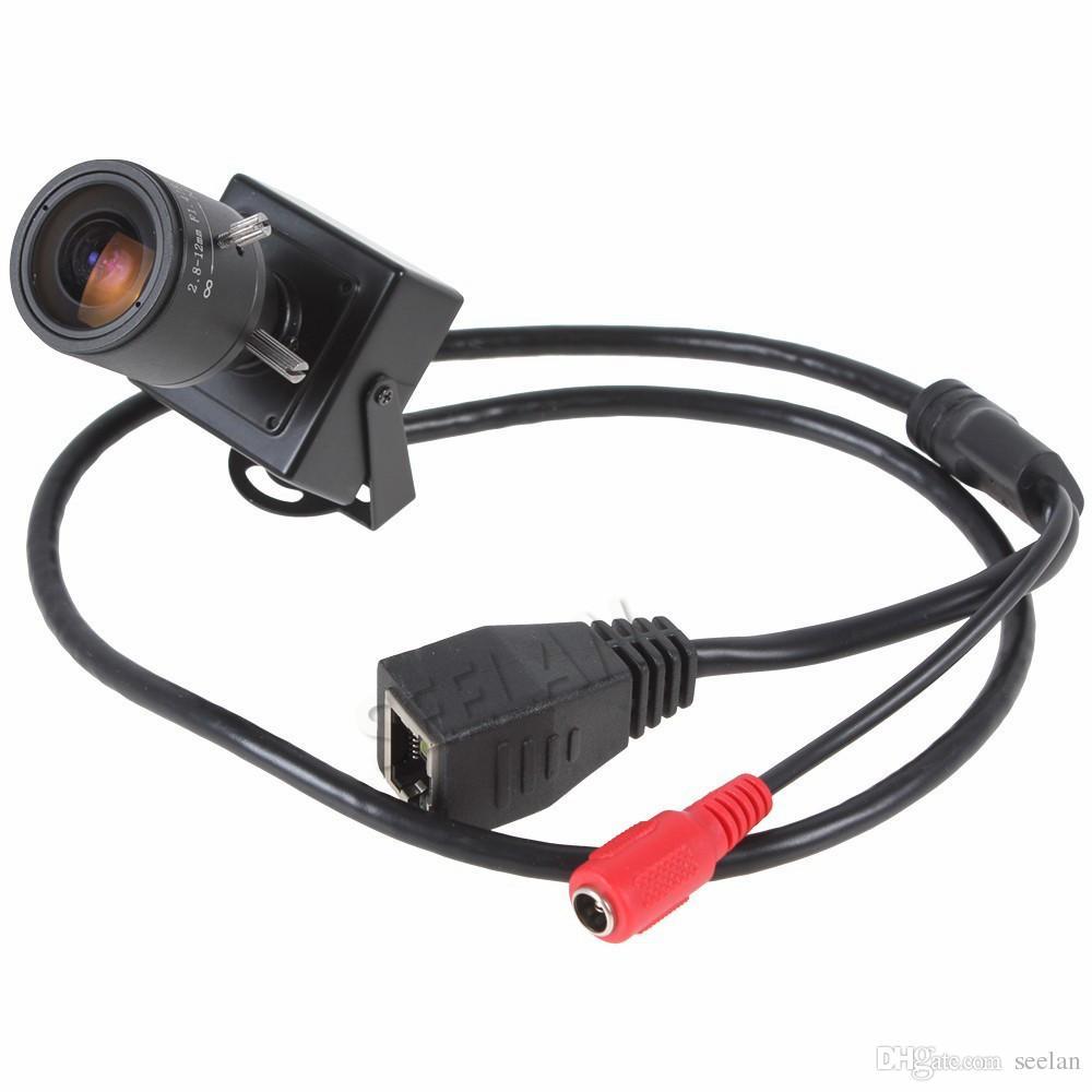 Mini-caméra IP 1080P 2.0MP ONVIF 2.8-12mm objectif zoom varifocal manuel P2P Plug and Play avec support caméra de sécurité CCTV