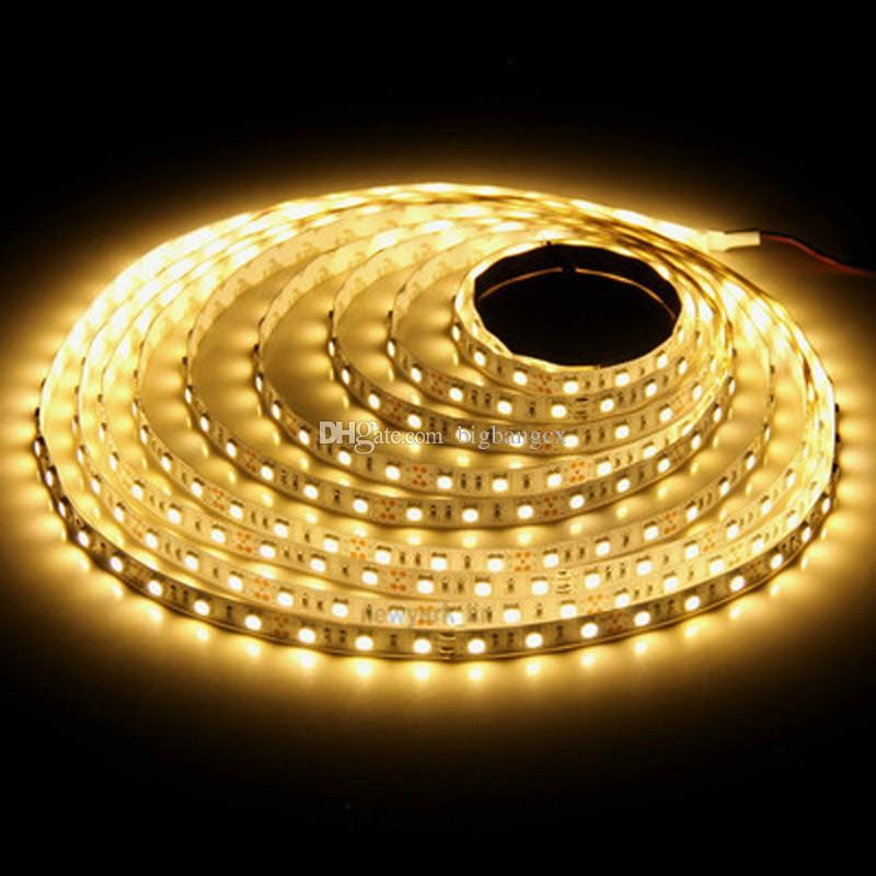 SMD3528 9.6W / M 120leds / M LED-Lichtstreifen Nicht wasserdicht mit 12V 5A rot / grün / blau / warmweiß / weiß / gelb