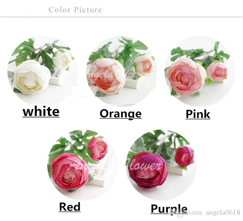 Wholesale Artificial High-grade Silk rose romantic tea rose flower Decoration for home party wedding table vase