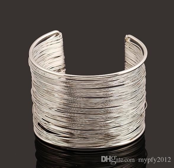 2015 nouvelle mode nouvelle multicouche punk manchette bracelets jonc rock star tendance à la mode big big bracelets nz