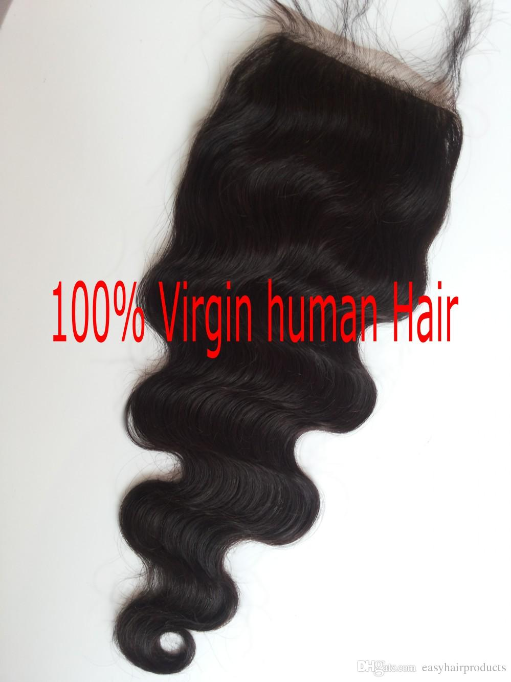 Lace frontal piece virgin peruvian virgin human hair G-EASY free part middle part 3 way part cheap lace closure