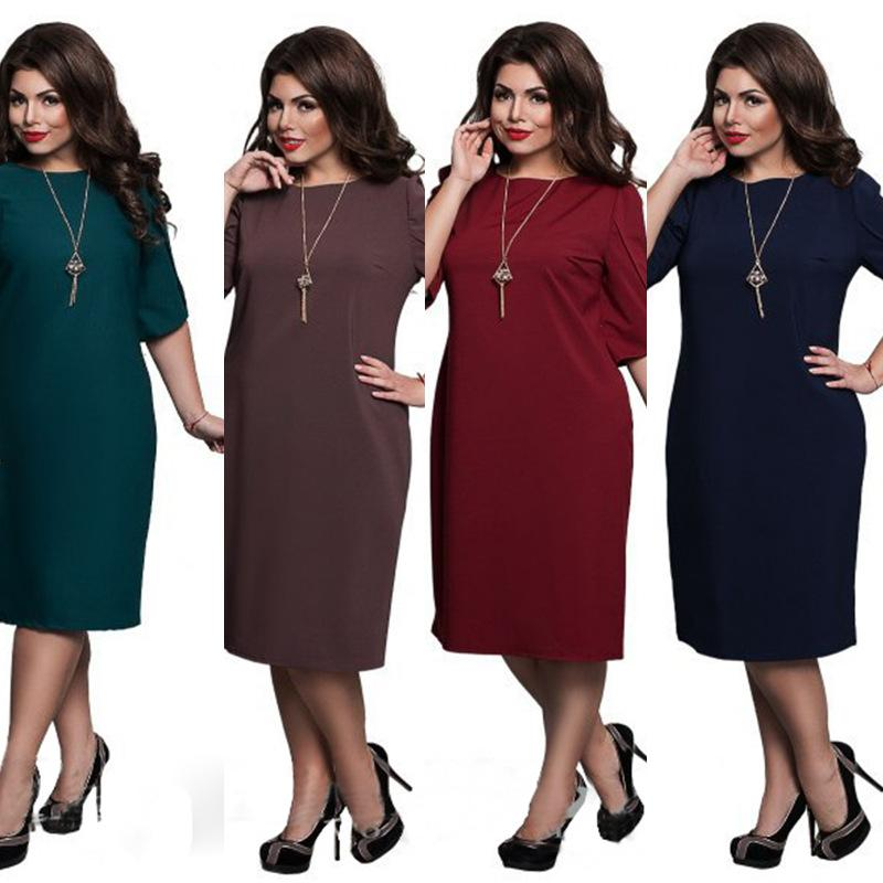 e652f369170 2019 Wholesale 5XL 6XL Large Size 2017Blue Red Green Straight Dresses Plus  Size Women Clothing Vestidos Summer Dress Big Size Printed Dress From Hiem