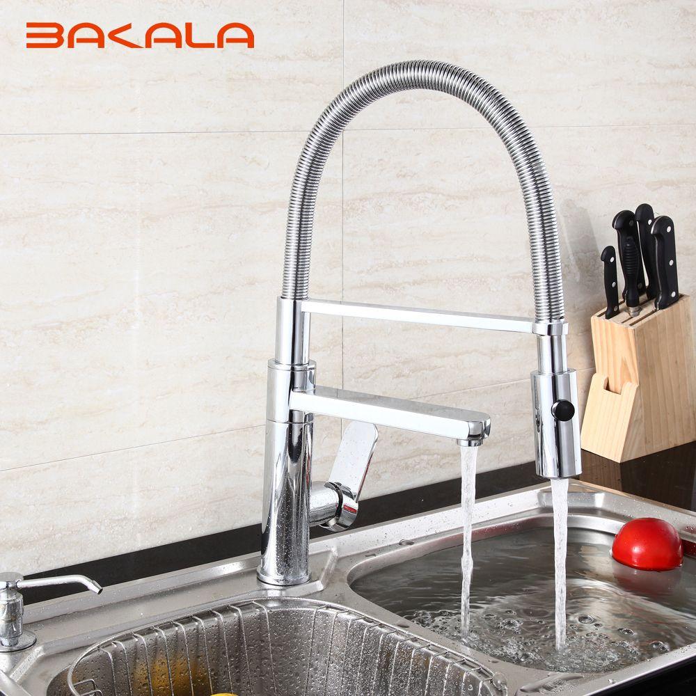 2018 Bakala Best Modern Commercial Pull Down Kitchen Sink Faucet ...