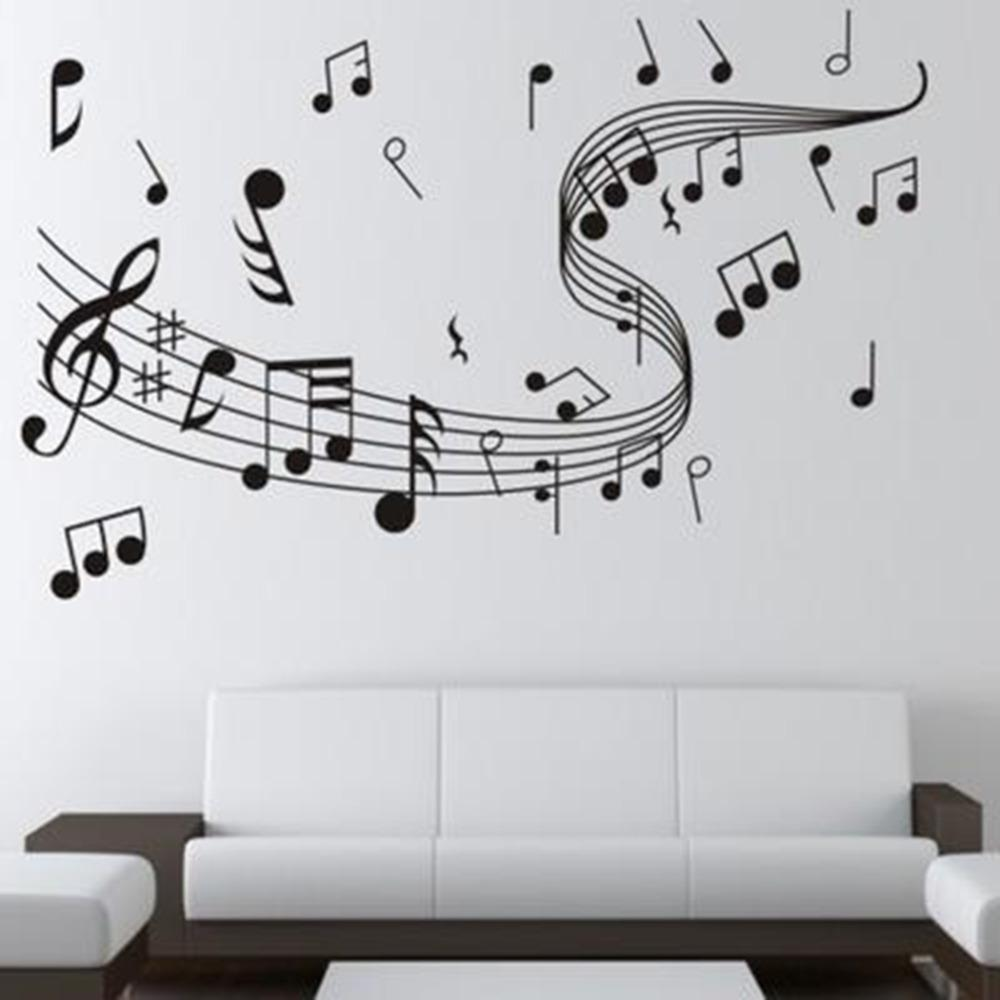 Musical notes wall sticker dance in the wind music notation musical notes wall sticker dance in the wind music notation stickers home decoration music shop classroom fashion diy 10060cm decal tree wall art decal amipublicfo Gallery