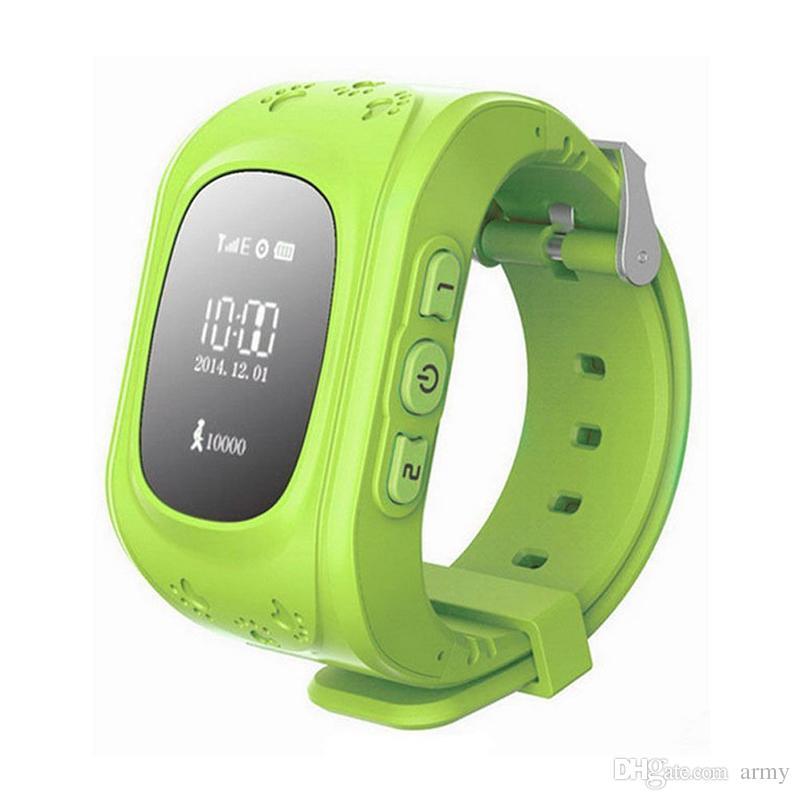 Q50 Enfants Smart Watch GPS LBS Double Lieu Enfants Sécurisés Montre Activité Tracker SOS Carte pour Android et IOS