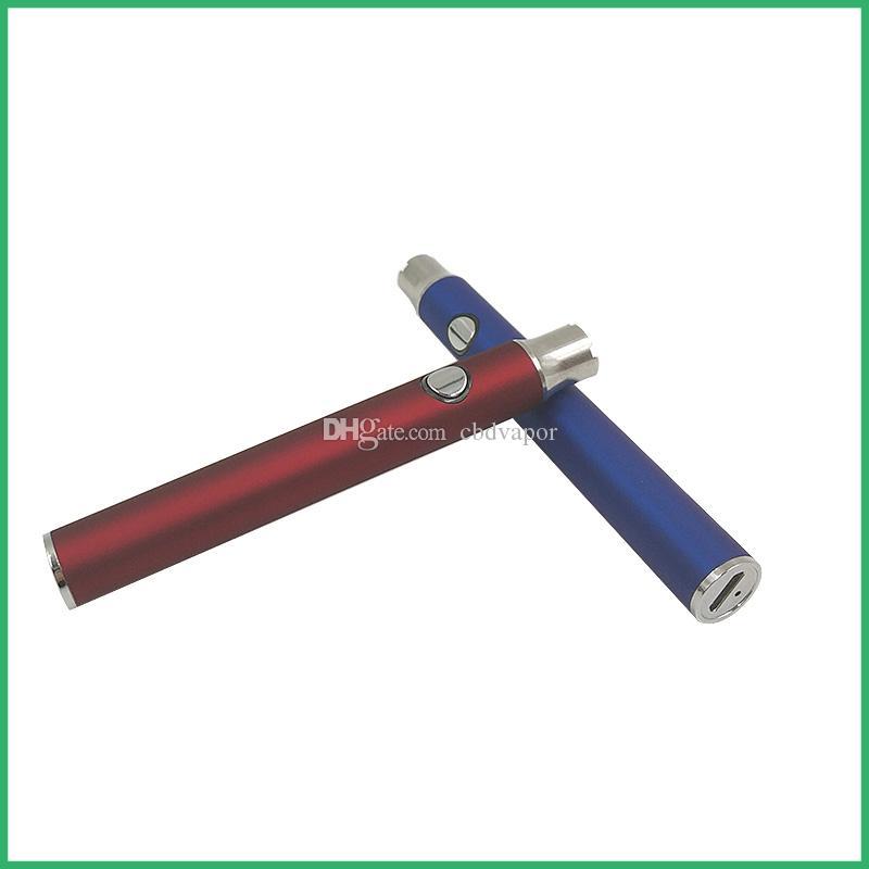 Svuotare la cartuccia di svapo funzione di preriscaldamento batteria a voltaggio variabile 510 thread 400 mAh batteria di preriscaldamento rapida Fondo micro usb carica penna vape