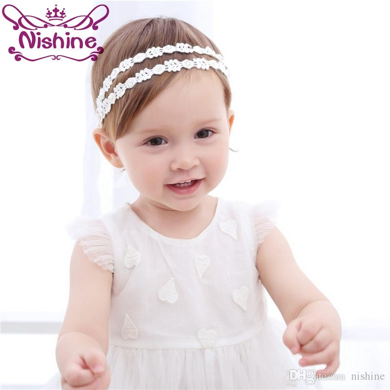 Nishine Children Girls Rhinestones Hairband Baby Pearls Girl Headband Princess Hair Accessories Photo Shoots Cheap For