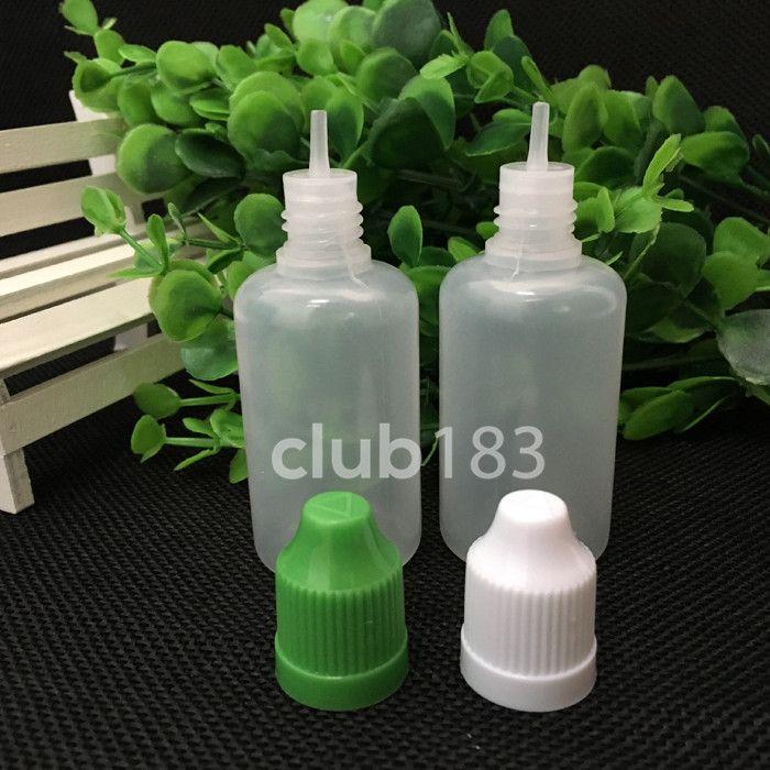 Groothandelsprijs Zachte stijl naaldflessen PE Kinderdichte flessen 30 mlklcolorful elektronische sigaretten lege plastic druppelaar flessen