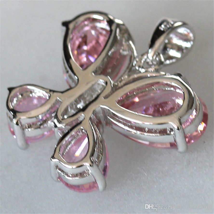 일류 제품 고귀한 관대 한 MN520 좋아하는 핑크 큐빅 지르코니아 베스트셀러 구리 로듐 도금 추천 펜던트 크리스마스 선물