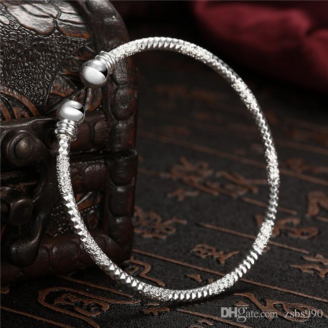 6 стиль стерлингового серебра 925 покрытием матовые браслеты мода партия ювелирные изделия для женщин высокое качество заводская цена бесплатная доставка